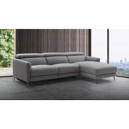 Grey Sectional Sofa Divani Casa Lupita Modern Grey Fabric Sectional with Right Facing Chaise VIG Furniture Model# VGKMKM.5000-RF Item-Number-77294