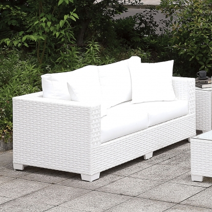 Furniture Of America Somani White Contemporary Adjustable Chaise SKU CM-OS2128WH-G