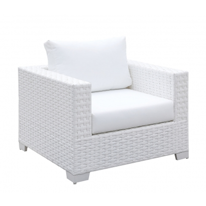 Furniture Of America Somani Ii White Contemporary Arm Chair SKU CM-OS2128WH-I