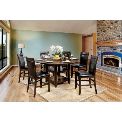 Furniture Of America Meagan Ii Brown Cherry Transitional 5 Piece Counter Height Table Set SKU CM3152RPT-5PC