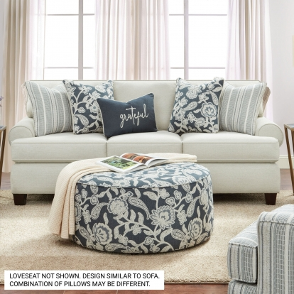 Furniture Of America Porthcawl Ivory Transitional Sofa With Loveseat SKU SM8190-2PC