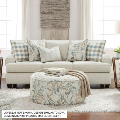 Furniture Of America Cardigan Ivory Transitional Sofa With Loveseat SKU SM8191-2PC
