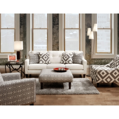 Furniture Of America Parker Ivory Transitional Sofa With Loveseat SKU SM8563-2PC