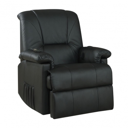 ACME Black Pu Reseda Recliner with Power Lift & Massage
