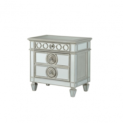 ACME Mirrored Varian Nightstand