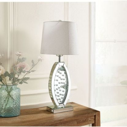 ACME Mirrored & Faux Crystals Nysa Table Lamp