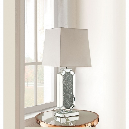 ACME Mirrored & Faux Diamonds Noralie Table Lamp