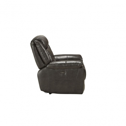 ACME Gray Leather Aire Imogen Recliner (Power Motion)