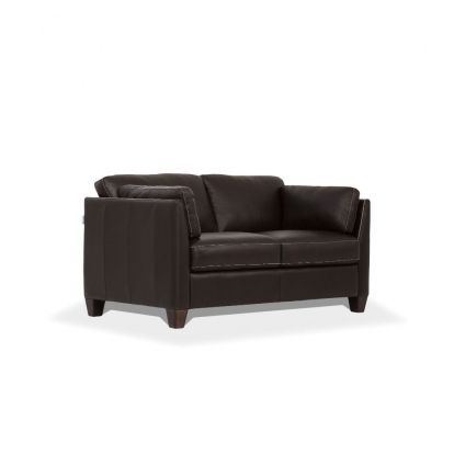 ACME Chocolate Leather Matias Loveseat