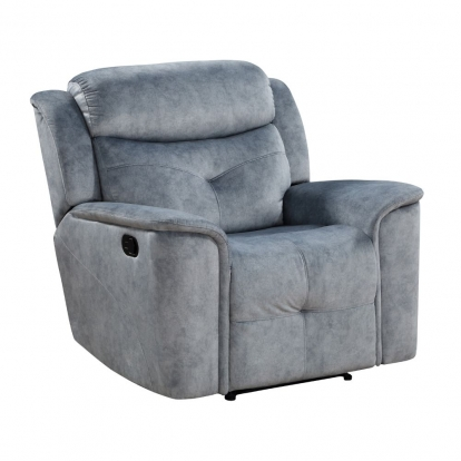 ACME Silver Gray Fabric Mariana Recliner