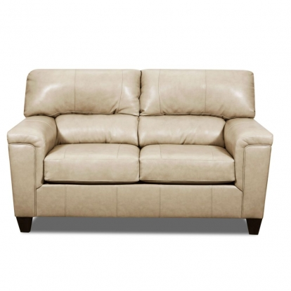 ACME Tan Top Grain Leather Match Phygia Loveseat
