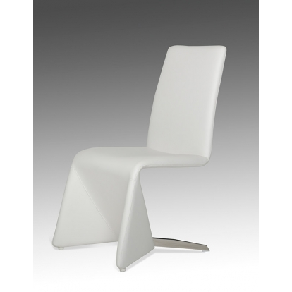 Nisse Contemporary White Leatherette Dining Chair (Set Of 2) Vig Furniture Sku Vgvcb878-Wht 15949Z