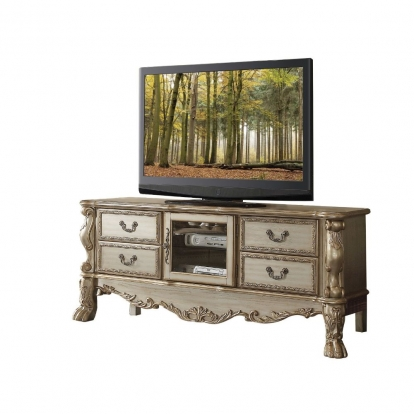 ACME Gold Patina & Bone Dresden Tv Console