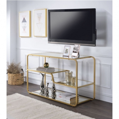 ACME Gold & Mirror Astrid Tv Stand