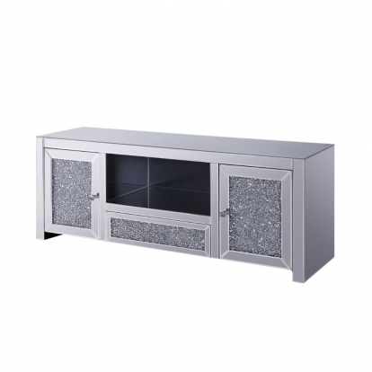 ACME Mirrored & Faux Diamonds Noralie Tv Stand