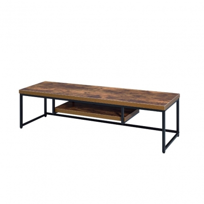 ACME Weathered Oak & Black Bob Tv Stand