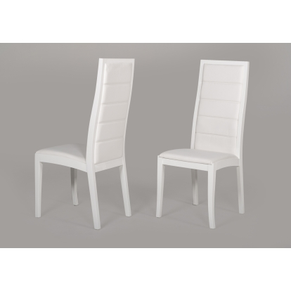 Donna Contemporary White Leatherette Dining Chair (Set Of 2) Vig Furniture Sku Vggu9007Ch-Wht 15494Z
