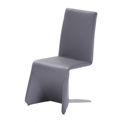 Nisse Contemporary Grey Leatherette Dining Chair (Set Of 2) Vig Furniture Sku Vgvcb878-Gry 15948Z